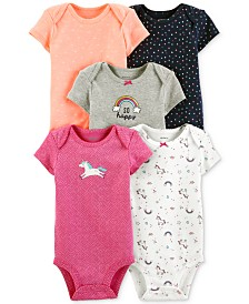 Carter's Baby Girls 5-Pk. Graphic Bodysuits