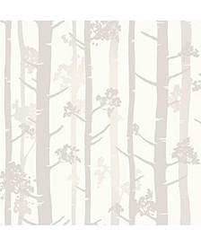 "Sydow Birch Tree Wallpaper - 396"" x 20.5"" x 0.025"""