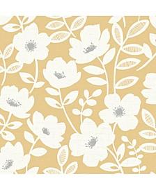 "Bergman Scandi Flower Wallpaper - 396"" x 20.5"" x 0.025"""