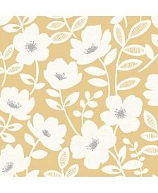 "Brewster Home Fashions Bergman Scandi Flower Wallpaper - 396"" x 20.5"" x 0.025"""