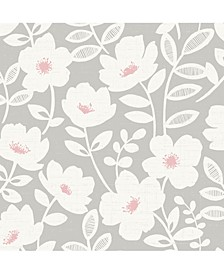 "Bergman Scandi Flower Wallpaper - 396"" x 20.5"" x 0.025"""