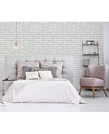 "Cologne Painted Brick Wallpaper - 396"" x 20.5"" x 0.025"""