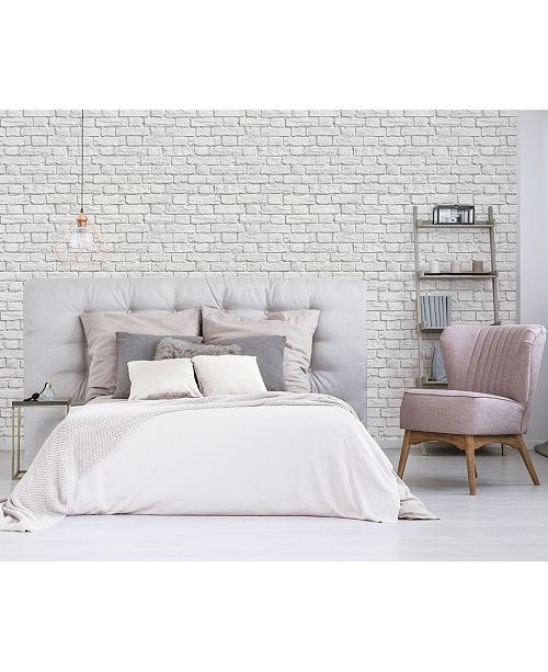 """Brewster Home Fashions Cologne Painted Brick Wallpaper - 396"""" x 20.5"""" x 0.025"""""""