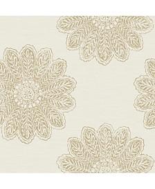 "Brewster Home Fashions Sol Medallion Wallpaper - 396"" x 20.5"" x 0.025"""