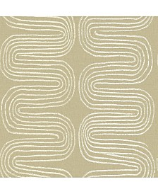 """Brewster Home Fashions Zephyr Abstract Stripe Wallpaper - 396"""" x 20.5"""" x 0.025"""""""
