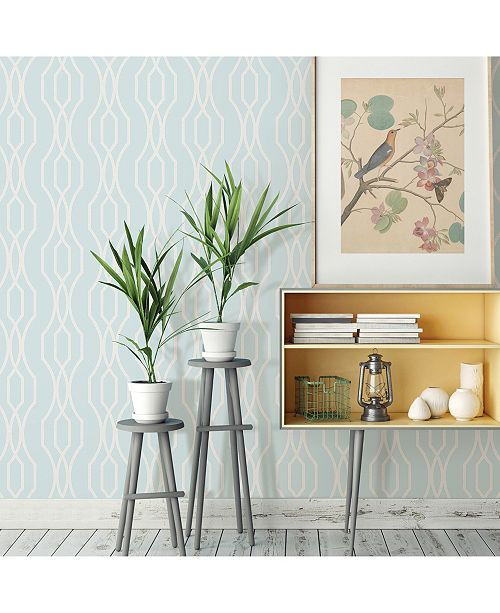 "Brewster Home Fashions Coventry Trellis Wallpaper - 396"" x 20.5"" x 0.025"""