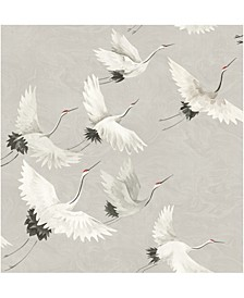 "Windsong Crane Wallpaper - 396"" x 20.5"" x 0.025"""