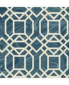"Daphne Trellis Wallpaper - 396"" x 20.5"" x 0.025"""