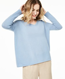 Charter Club V-Neck Pure Cashmere Sweater, Regular & Petite Sizes, Created for Macy's