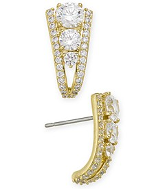 Crystal Curved Drop Earrings, Created for Macy's