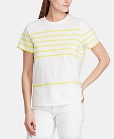 Stripe-Print Short-Sleeve Shirt