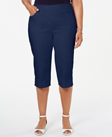 Alfred Dunner Plus Size In The Navy Pull-On Capri Pants