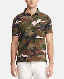 Polo Ralph Lauren Men's Big & Tall Classic-Fit Camo Mesh Polo Shirt
