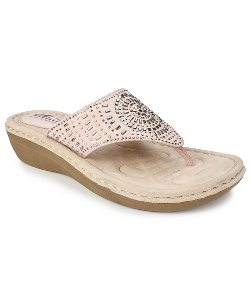White Mountain Cienna Comfort Thong Sandals