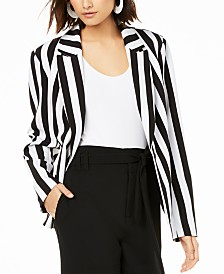 Bar III Striped Blazer, Created for Macy's