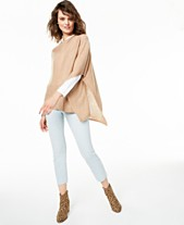 483e17373c Charter Club Asymmetrical Cashmere Poncho, Created for Macy's
