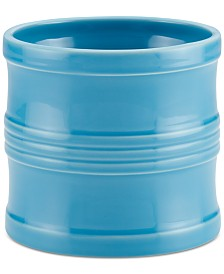 "Circulon Ceramics 7.5"" Tool Crock with Partition Insert, Aqua"