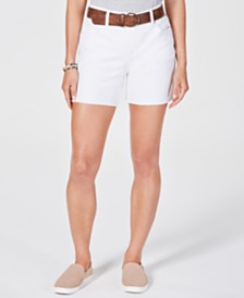 Style & Co Belted Denim Shorts, Created for Macy's