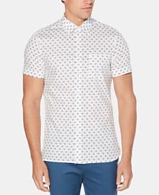 Perry Ellis Men's Regular-Fit Stretch Screw-Print Shirt