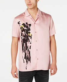 I.N.C. International Concepts Men's Lex Abstract Print Short Sleeve Shirt