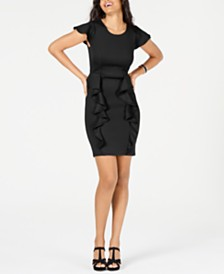 Thalia Sodi Ruffled Scuba Dress, Created for Macy's