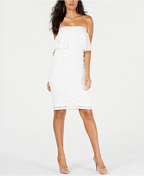 Thalia Sodi Strapless Lace Dress, Created for Macy's