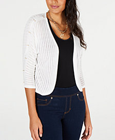 Thalia Sodi Studded Pointelle Cardigan, Created for Macy's