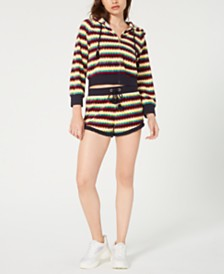 Juicy Couture Striped Cropped Jacket