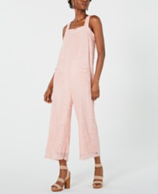 Line & Dot Corona Lace Tie-Back Jumpsuit