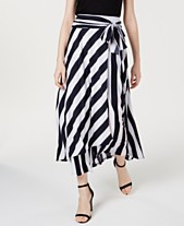 b01de79a9 I.N.C. Tie-Front Striped Maxi Skirt, Created for Macy's