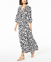 f36c97843bb3e Bar III Printed Wrap Dress, Created for Macy's