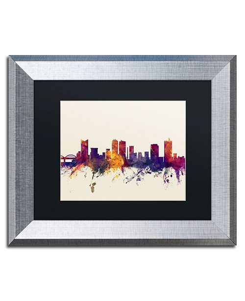 "Trademark Global Michael Tompsett 'Fort Worth Texas Skyline' Matted Framed Art - 11"" x 14"""