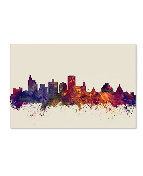 "Trademark Global Michael Tompsett 'Jackson Mississippi Skyline' Canvas Art - 12"" x 19"""