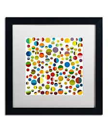 """Michelle Calkins 'Found My Marbles 3.0' Matted Framed Art - 16"""" x 16"""""""