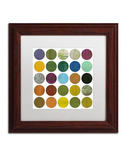 "Trademark Global Michelle Calkins 'Rustic Rounds 5.0' Matted Framed Art - 11"" x 11"""