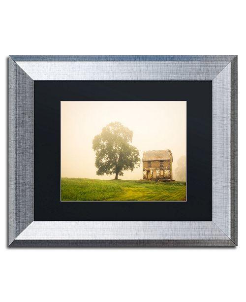 "Trademark Global PIPA Fine Art 'Abandoned House on Adams Dam Rd' Matted Framed Art - 11"" x 14"""