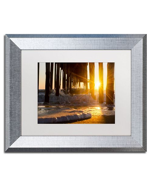 "Trademark Global PIPA Fine Art 'Sea Foam In The Sunlight' Matted Framed Art - 11"" x 14"""