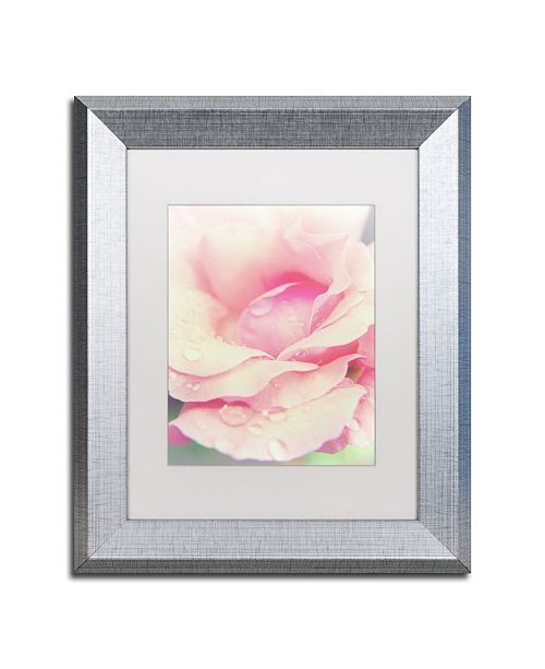 "Trademark Global PIPA Fine Art 'Softened Rose' Matted Framed Art - 11"" x 14"""
