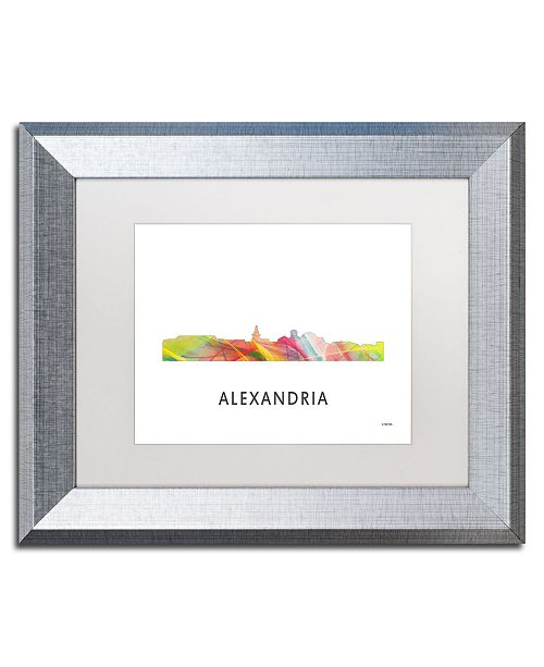 "Trademark Global Marlene Watson 'Alexandria Virginia Skyline WB-1' Matted Framed Art - 11"" x 14"""