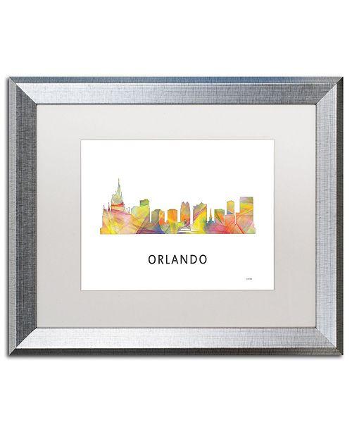 "Trademark Global Marlene Watson 'Orlando Florida Skyline WB-1' Matted Framed Art - 16"" x 20"""