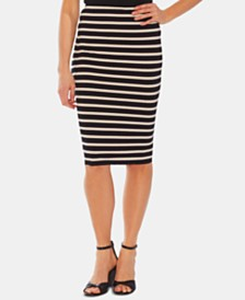 Vince Camuto Striped Pull-On Skirt
