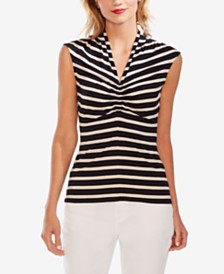 Vince Camuto Striped Ruched Top