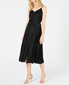 Vince Camuto Rumple Button-Front Dress