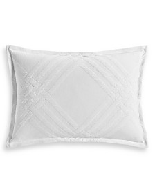 Hotel Collection Locked Geo Cotton Standard Sham, Created for Macy's