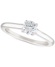 Diamond Solitaire Engagement Ring (1/2 ct. t.w.) in 14k White Gold