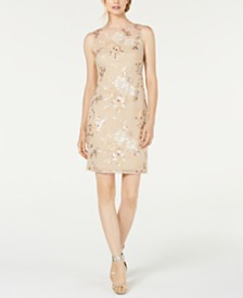Calvin Klein Embellished Illusion Sheath Dress