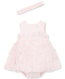 Little Me Baby Girls 2-Pc. Butterfly Popover & Headband Set
