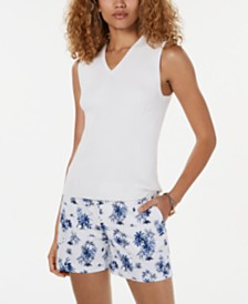 Tommy Hilfiger Ribbed Sleeveless Top, Created for Macy's