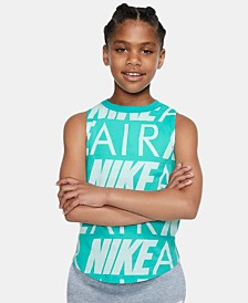 Nike Big Girls Air Logo Cotton Tank Top