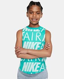 Nike Big Girls Air Logo Cotton Tank Top